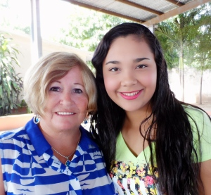 Marcia Pratt and Kenia. Linda Raaseveld, a co-sponsor for Kenia, was unable to attend the picnic.